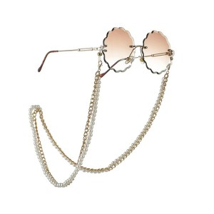 Eyewewar metal chain with pearls in gold CH2335