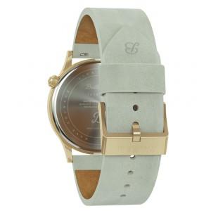 Bratleboro Tayrona Gold Mirrored Leather watch