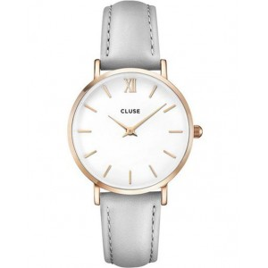 CLUSE MINUIT Ladies Watch Grey Leather Strap CW0101203010