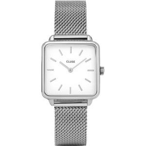 CLUSE WATCH La Tétragone Ladies watch silver mesh bracelet CW0101207003