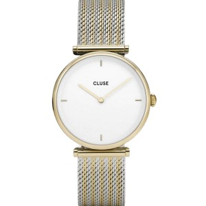 CLUSE  Triomphe Ladies Watch Siver and gold Mesh Bracelet CW0101208002