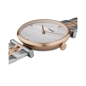 CLUSE Triomphe Ladies watch silver & rose gold stainless steel bracelet  CW0101208015