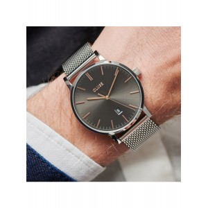 CLUSE Aravis Watch Silver-tone Stainless Steel Strap CW0101501003
