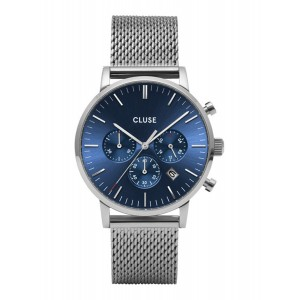 CLUSE Aravis Watch Chrono Silver-tone Stainless Steel Strap CW0101502004