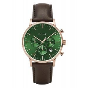 CLUSE Aravis Watch Chrono Brown Leather Strap CW0101502006