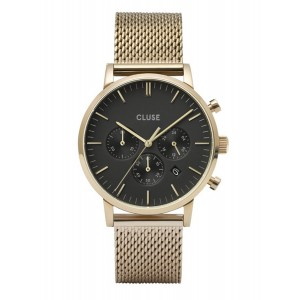 CLUSE Aravis Watch Chrono Gold Stainless Steel Strap CW0101502010