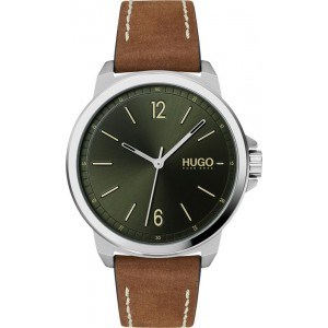 HUGO BOSS RED Lead Men's watch Brown Leather Strap 1530063