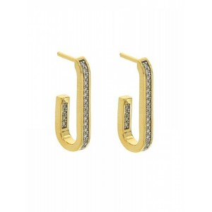 JOOLS Earrings  Gold plated silver 925 with zc E5962