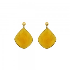 JOOLS Earrings  Gold plated silver 925 with jems  ER-51590.1