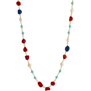 Breeze Ladies necklace in stainless steel gold plated  & jem stones 410032.1b