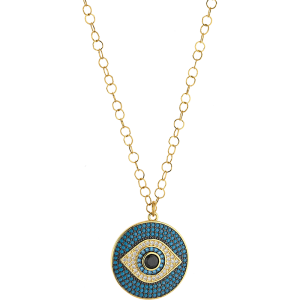 Breeze Ladies necklace evil eye in stainless steel gold plated  & zc 410034.1