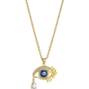 Breeze Ladies necklace evil eye in stainless steel gold plated   410036.1