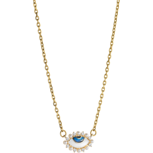 Breeze Ladies necklace evil eye in stainless steel gold plated   410037.1