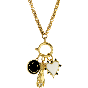Breeze Ladies necklace  in stainless steel gold plated   410041.1