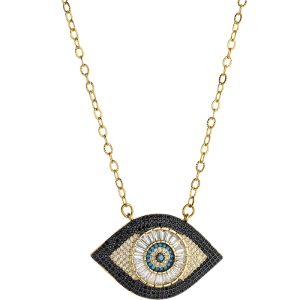Breeze Ladies necklace evil eye in stainless steel gold plated  & zc 410042.1