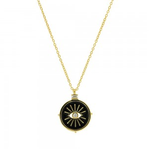 JOOLS Neclace Silver 925 Gold plated with evil eye JPY13391KL-Y.1