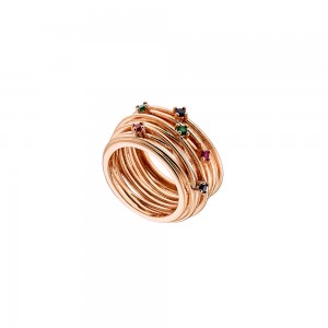 OXETTE OPTIMISM  Ladies Ring Metallic Rose Gold plated 04X15-00119