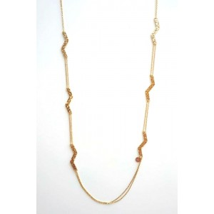 REBECCA SKYLINE Ladies necklace in stainless steel gold plated BSLKBO36