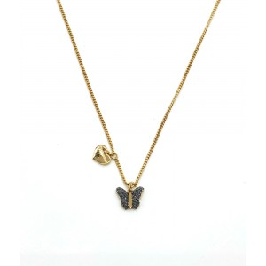 REBECCA JOLIE Ladies necklace Silver 925 gold plated SJOKAO51