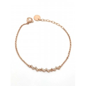 REBECCA JOLIE Ladies Bracelet in rose gold plated silver 925 SDUBRB02