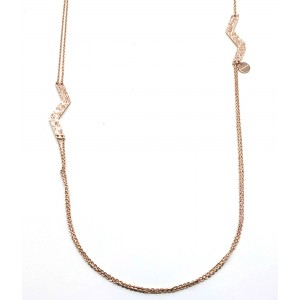 REBECCA SKYLINE Ladies necklace in stainless steel rose gold plated BSLKBR35