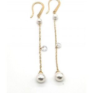 REBECCA LUCCIOLE Ladies earrings in silver 925 gold plated SLCOOB82