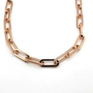REBECCA STOCKHOLM Ladies necklace in stainless steel rose gold plated BCCKBR02