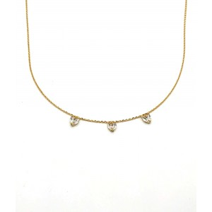 REBECCA DIANA Ladies necklace Silver 925 gold plated with crystals SDIKOB64