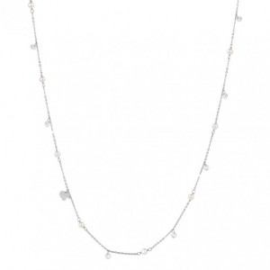 REBECCA LUCCIOLE Ladies necklace Silver 925 with crystals and pearls SLCKBB82