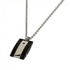 ROSSO AMANTE Men's Necklace  Silver Stainless Steel UCN071CR