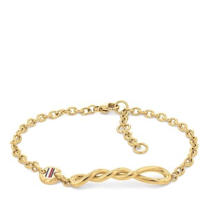 TOMMY HILFIGER Ladies Bracelet Gold Plated Stainless Steel 2780509
