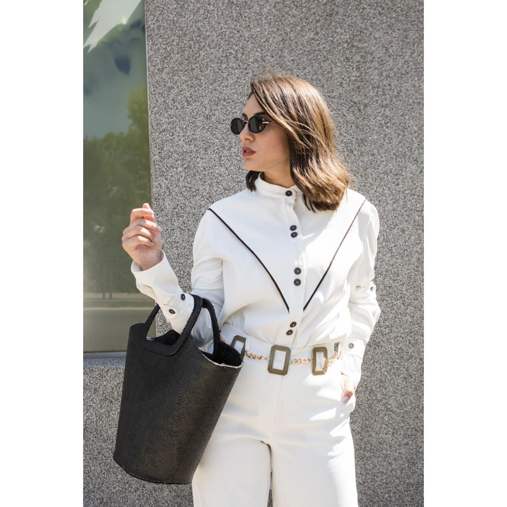 La Chaine Black Shopping Bag