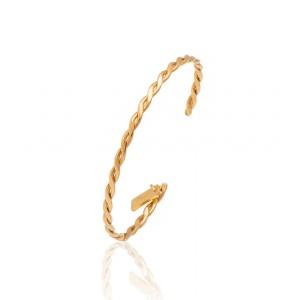 Lifelikes Gold Braid Bracelet