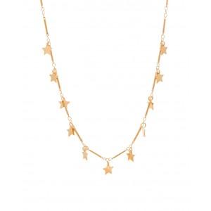 Lifelikes Gold Stardust 11 stars Necklace