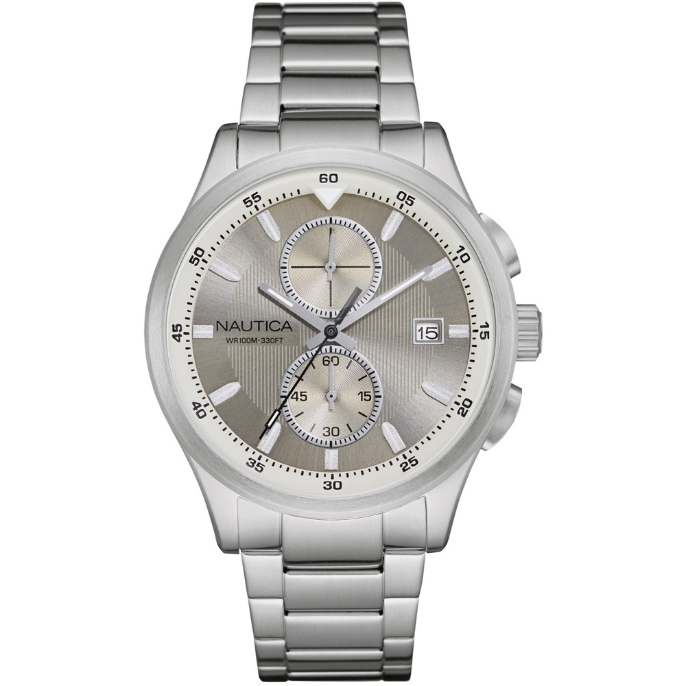 NAUTICA NCT 19 Chronograph Stainless Steel Bracelet  NAD19553G