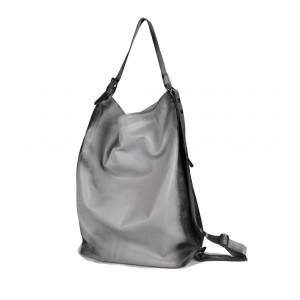 OMMA Amsterdam Backpack / Shoulder Bag Grey Leather