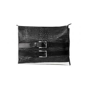 OMMA Milan Shoulder Bag Black Leather