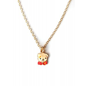 WOOFIE Silver 925 Gold Necklace Woofie Bear