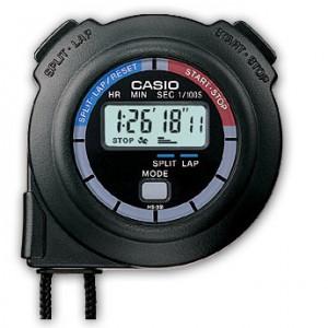 CASIO Chronometer black  resin case HS-3V-1RET