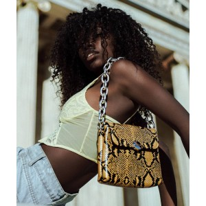 Clic Jewels Yellow Croco Bag