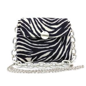 Clic Jewels Zebra Faux Fur MiniBag