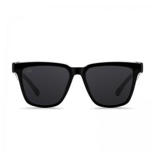 D.FRANKLIN ALEXA SHINY BLACK / BLACK - UV400 Polarised Sunglasses
