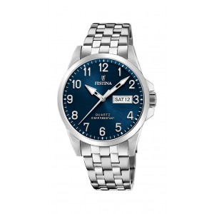 FESTINA Men's watch Silver tone stainless steel bracelet F20357/C
