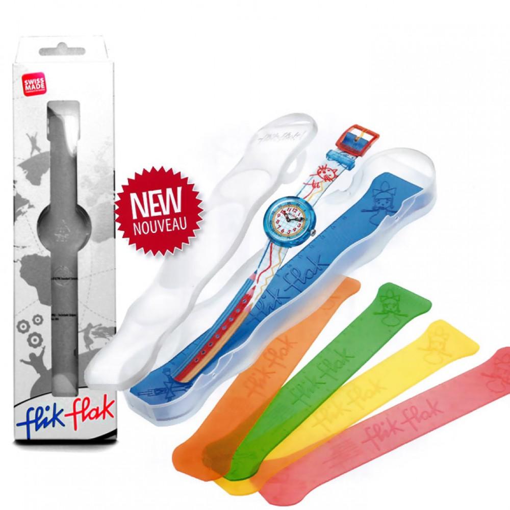 FLIK FLAK BLUE MY MIND kids watch blue plastic strap ZFCSP096