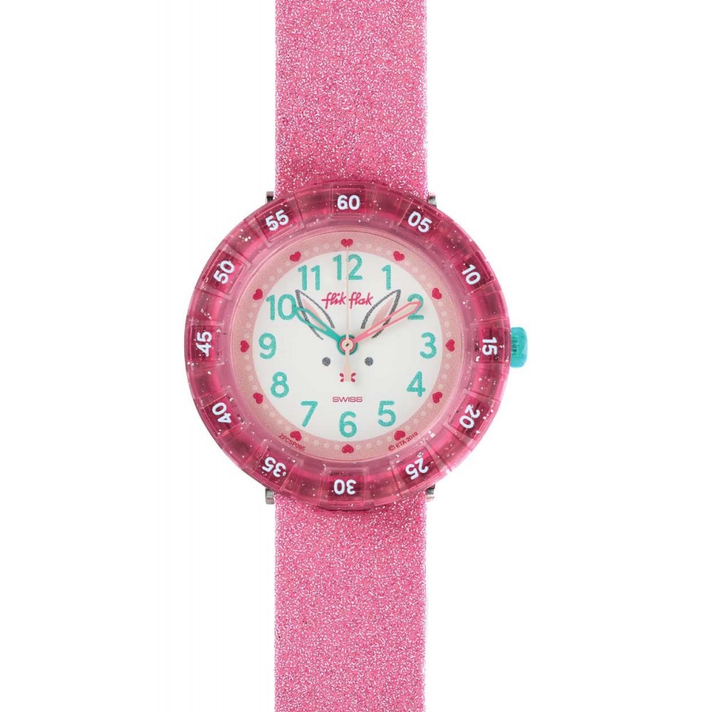 FLIK FLAK Bunnyaxus Kids watch multicolor fabric strap ZFCSP095