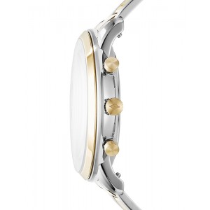 FOSSIL Neutra Chronograph Silver & Gold tone stainless Steel Bracelet FS5385