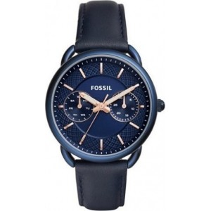 FOSSIL  Tailor Multifunction Blue leather strap  ES4092