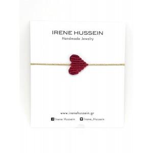Irene Hussein Macrame Bracelet S Red Heart