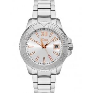 JCOU Siren Ladies Watch Silver Stainless Steel Bracelet JU19052-1