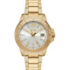 JCOU Siren Ladies Watch Gold Stainless Steel Bracelet JU19052-3